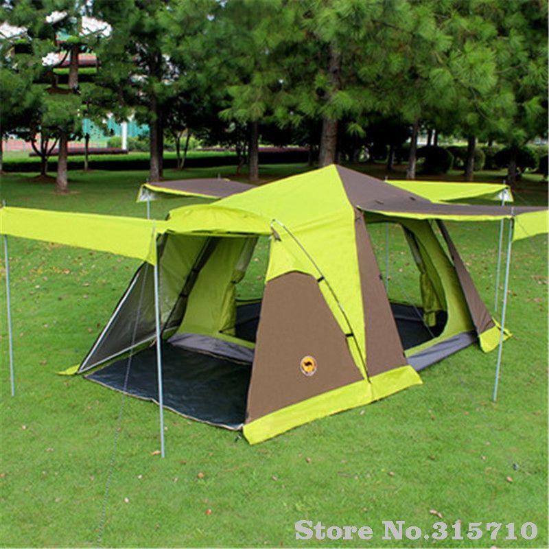 Kamel automatische 3-4 personen camping zelt mit rock haben 4 türen umfassen ein satz von vorne pole anti regen große familie wandern zelt