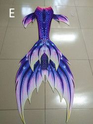 2017 new Mermaid tails with monofin swimsuit swimwear summer beach vacation cosplay mermaid tails
