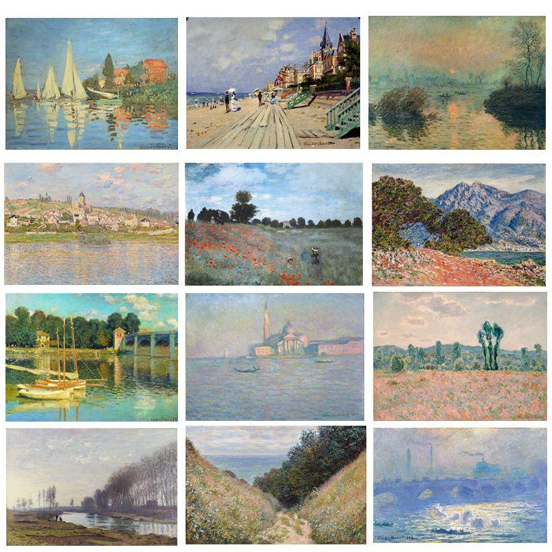 Toile Peinture Impressions Claude Monet Célèbre Peinture À L'huile Impressionniste Mur Art Photo pour Salon Décor À La Maison