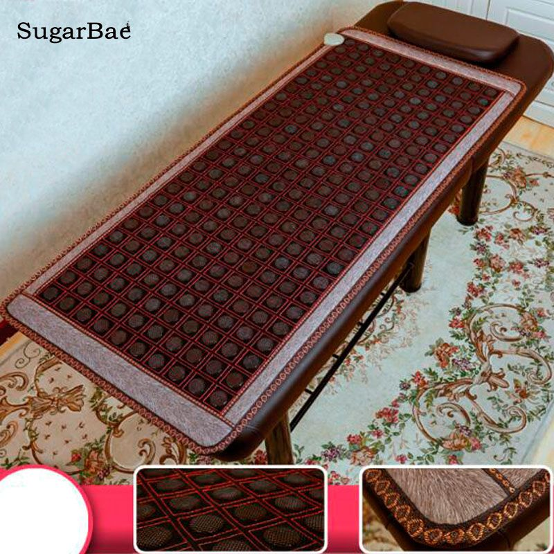 Korea Health Sofa Mattress Jade Tourmaline Germanium Electric Heating Pad Thermal Stone Mat Mattress