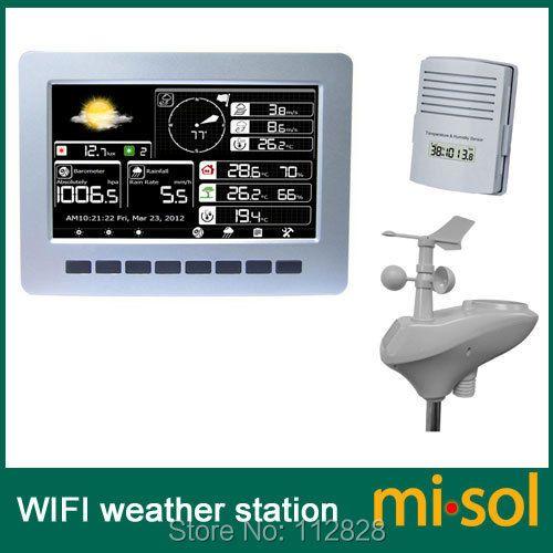 Misol/WIFI wetterstation mit solar powered sensor drahtlose daten hochladen datenspeicherung