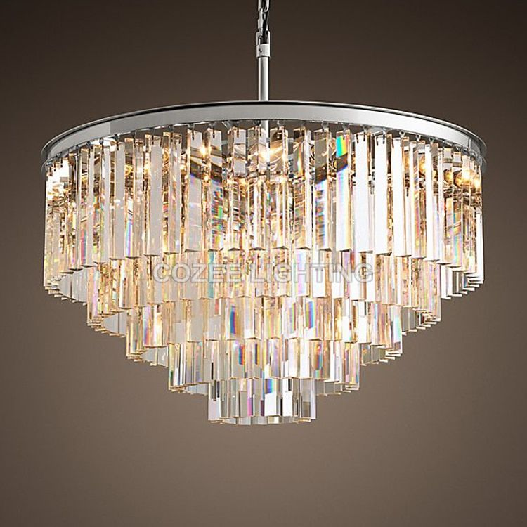 Vintage Chandeliers LED Lighting Modern Crystal Prism Chandelier Light lustres de cristal for Living Dining Room Home Decor