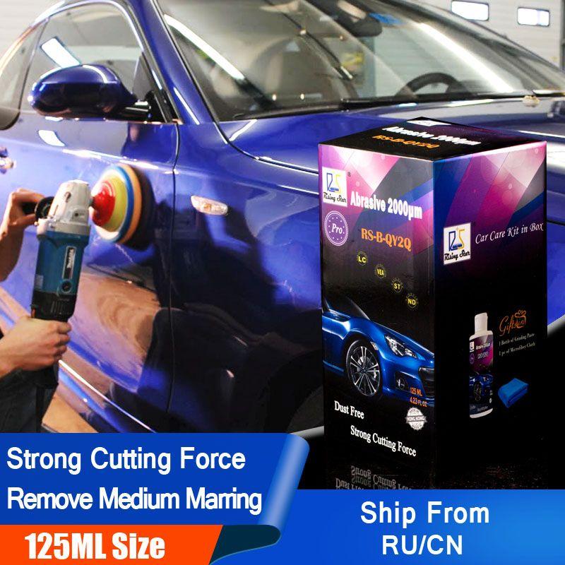 Étoile montante RS-B-QY2Q abrasif 2000um 125 ml Kit pour professionnels voiture peinture pâte à polir pour enlever et réparer les rayures