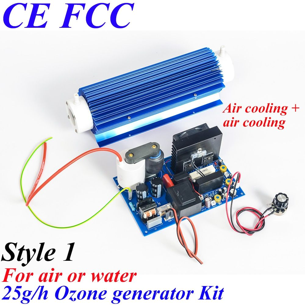 Pinuslongaeva CE EMC LVD FCC Factory outlet 25g/h 25grams Quartz tube type ozone generator Kit Aquaculture water disinfection