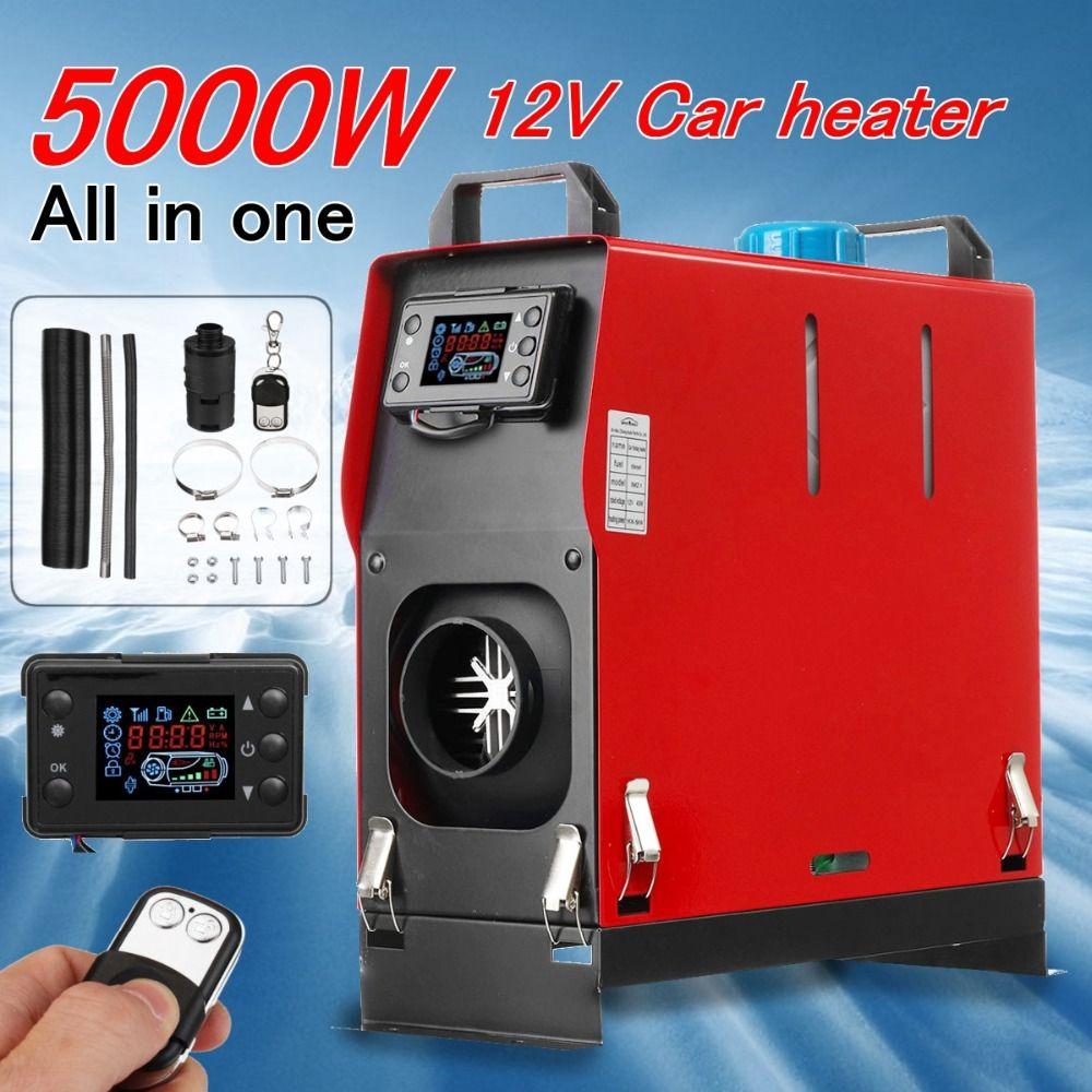 Alle In Einem 5000 W Air diesels Parkplatz Heizung 5KW 12 V Auto Heizung Für Lkw Motor-Häuser Boote bus + LCD schlüssel Schalter + Fernbedienung