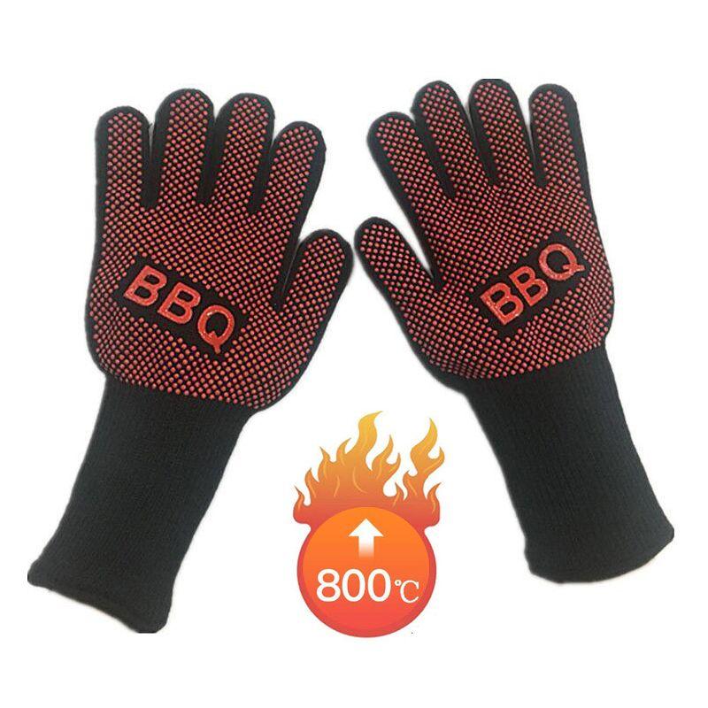 1 paire de gants de sécurité résistant au feu gants hommes Anti haute température BBQ gants de travail four à micro-ondes extérieur Barbecue 932F nouveau