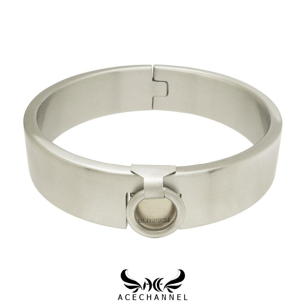 Edelstahl slave vorhängeschloss kragen drehmoment halsband halskette fetisch tragen schmuck mit bondage fesseln set