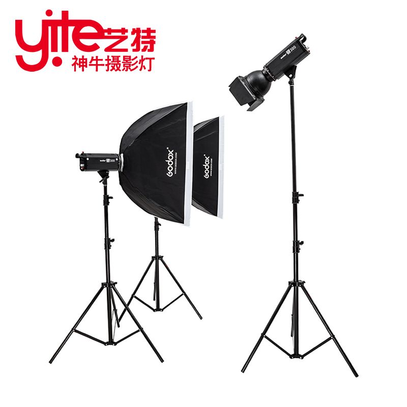 godox tc300 lamp photography light flash light set softbox photographic equipment portraitist set