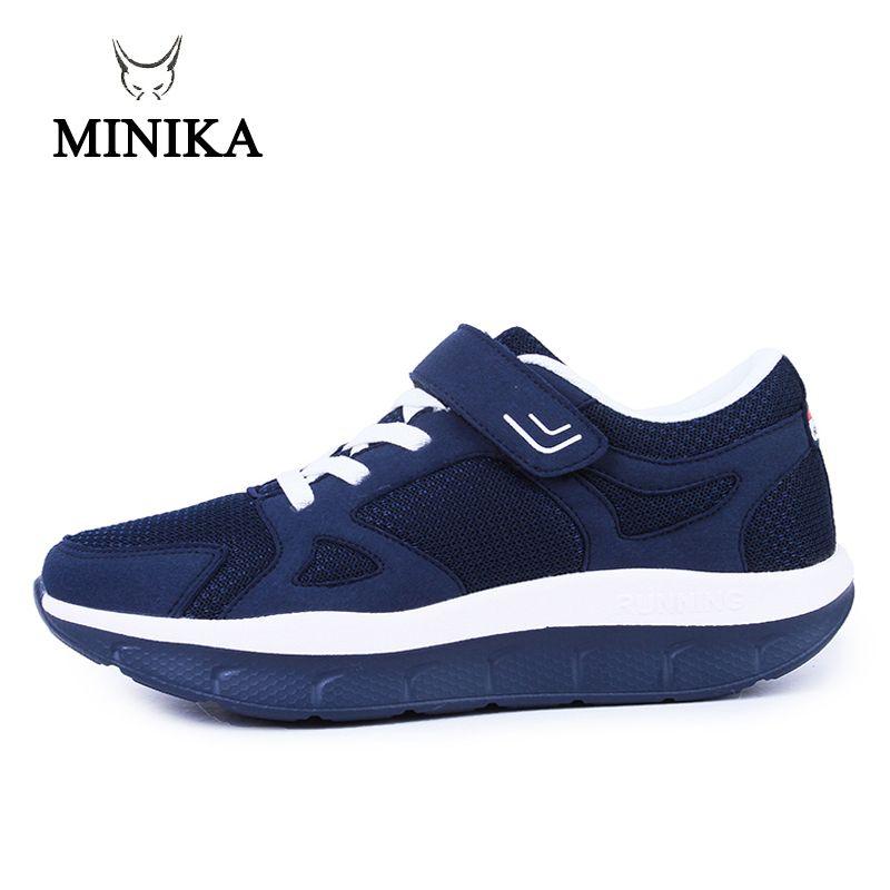 Frauen Komfortable Schaukel Plattform Schuhe Mutter Atmungsaktives Mesh Schuh Zapatos De Mujer 2018 Fitness Sport Turnschuhe Sapatos Mulher