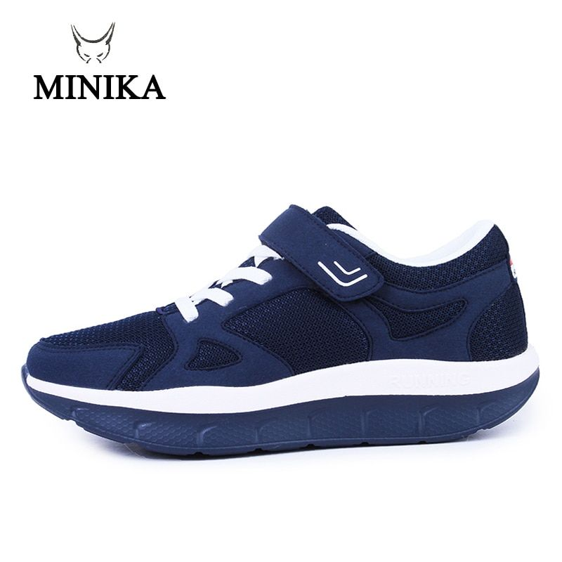 Women's Comfortable Swing Platform Shoes Mother Breathable Mesh Shoe Zapatos De Mujer Fitness Sport Sneakers Sapatos Mulher 2017