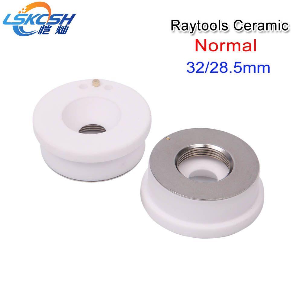 LSKCSH Freies verschiffen 28/32mm Precitec/WSX/Raytools keramik laser düse halter keramik teil für Faser laser Schneiden Maschinen