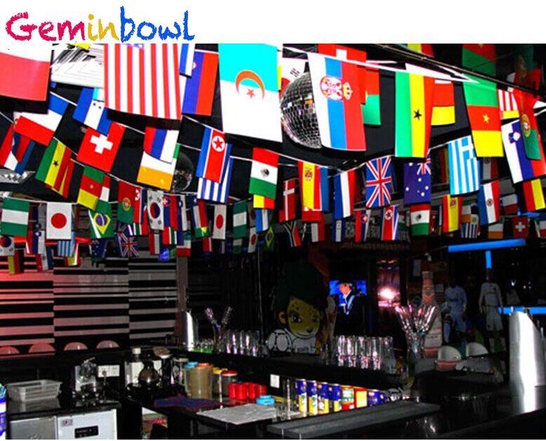 Geminbowl 25-65 M 100-200 pièces différents pays chaîne drapeau International monde bannière banderoles bar maison fête décoration