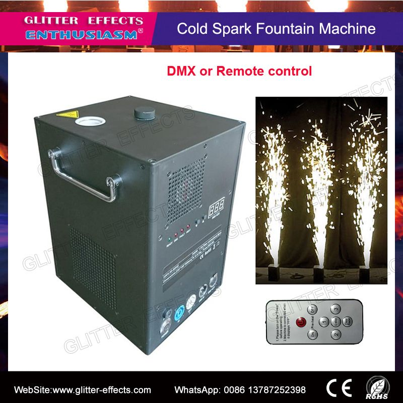Remote and DMX control stage cold spark fireworks sparctic machine for wedding