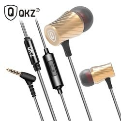 QKZ X9 Clear Voice Earphone Metal-Ear Super Bass Go Pro Earphones Mobile Computer MP3 Universal 3.5MM Headset Amazing Sound