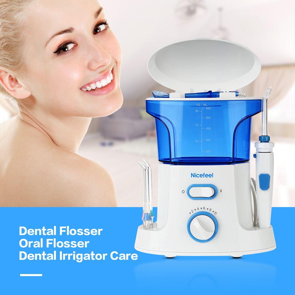 Nicefeel Dentaire Flosser D'eau Orale Flosser Dentaire Irrigator Soins 600 ml Oral Soins D'hygiène Dentaire Soie Dentaire Mis Oral Dents Cleaner