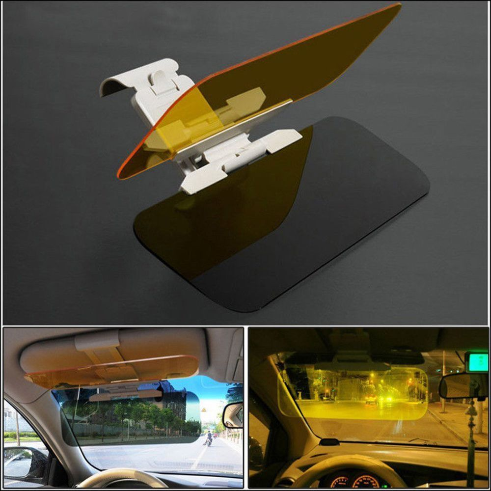2in1 Car Transparent Anti-glare Glass HD Car Sun Visor Extender Day Night Driving Mirrors Vehicle Clear View Glass