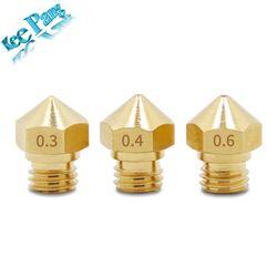 5 pcs/lot MK10 Buse 0.2mm 0.3mm 0.4mm 0.6mm 0.8mm Cuivre M7 Partie Filetée Pour L'extrusion 1.75mm Filament En Laiton 3D Imprimantes Pièces