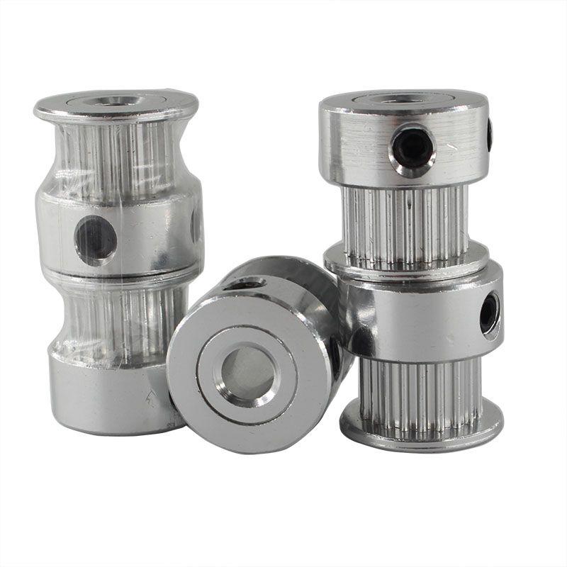5pcs/lot 3D Printer Accessories GT2 Timing Pulley 20 Teeth Wheel Bore 5mm Aluminium Gear Teeth Width 6mm For Reprap Part
