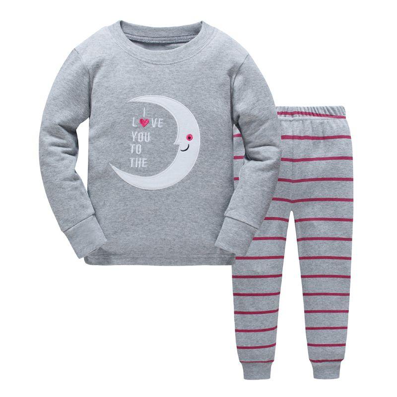Детские пижамы комплект Обувь для мальчиков с динозавром из мультфильма пижамы для девочек милые хлопковые пижамы Наборы для ухода за коже...
