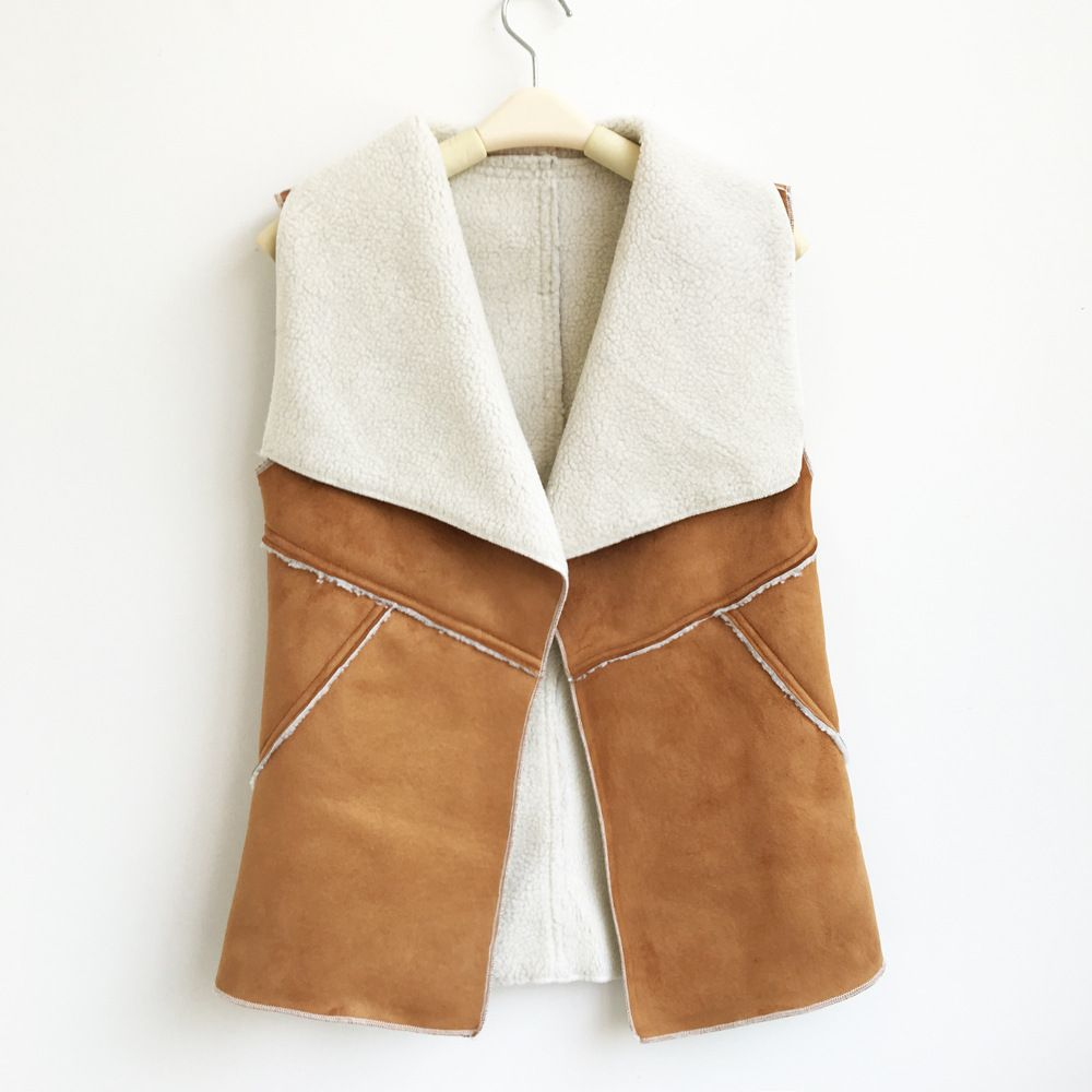 Women winter vests short waistcoat lamb faux fur Warm 7color 4size S-XL drop shipping new 2016 pink black sleeveless blazer