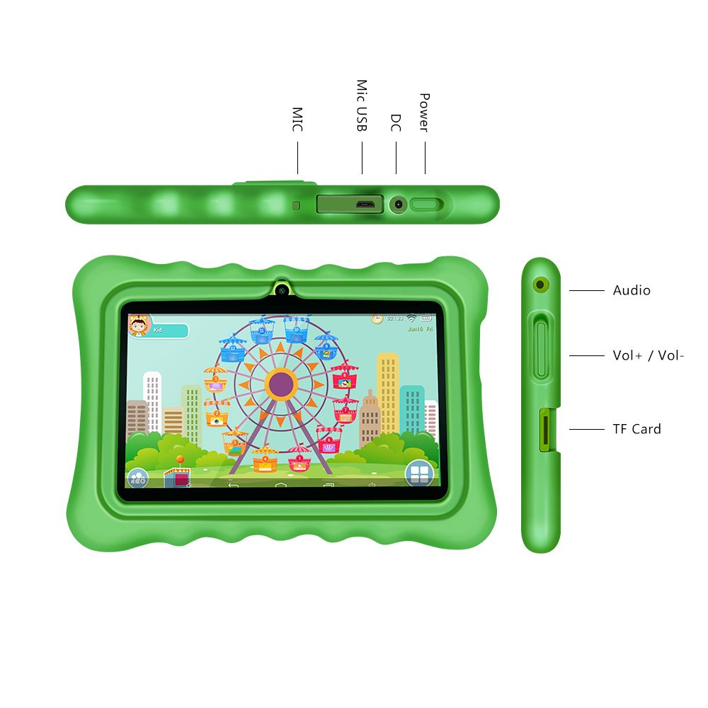 New arrival!! Yuntab 7 inch touch screen Android4.4 tablet PC load Iwawa kid software with Premium Parent Control for children