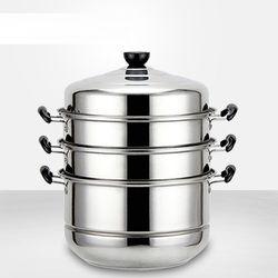 Memasak steamer pot casserole saham pot stainless steel 4 lapisan 30 m