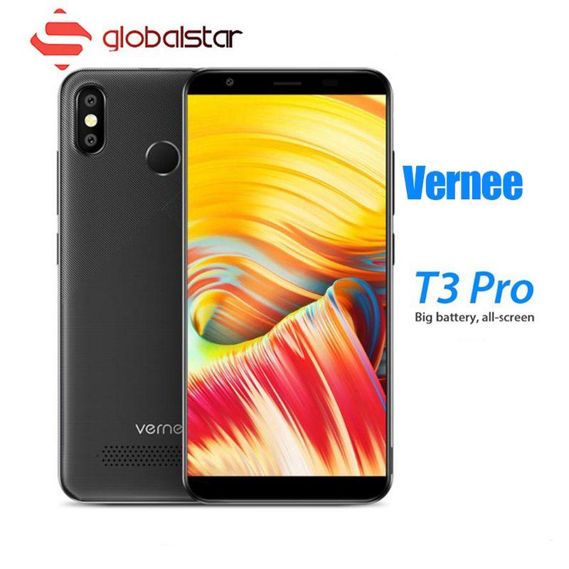 Vernee T3 Pro 5.5 ''Plein Écran Smartphone 3 GB RAM 16 GB ROM Mobile Téléphone Android 8.1 MTK6739 Quad -core 4080 mAh 4G LTE Téléphones Portables
