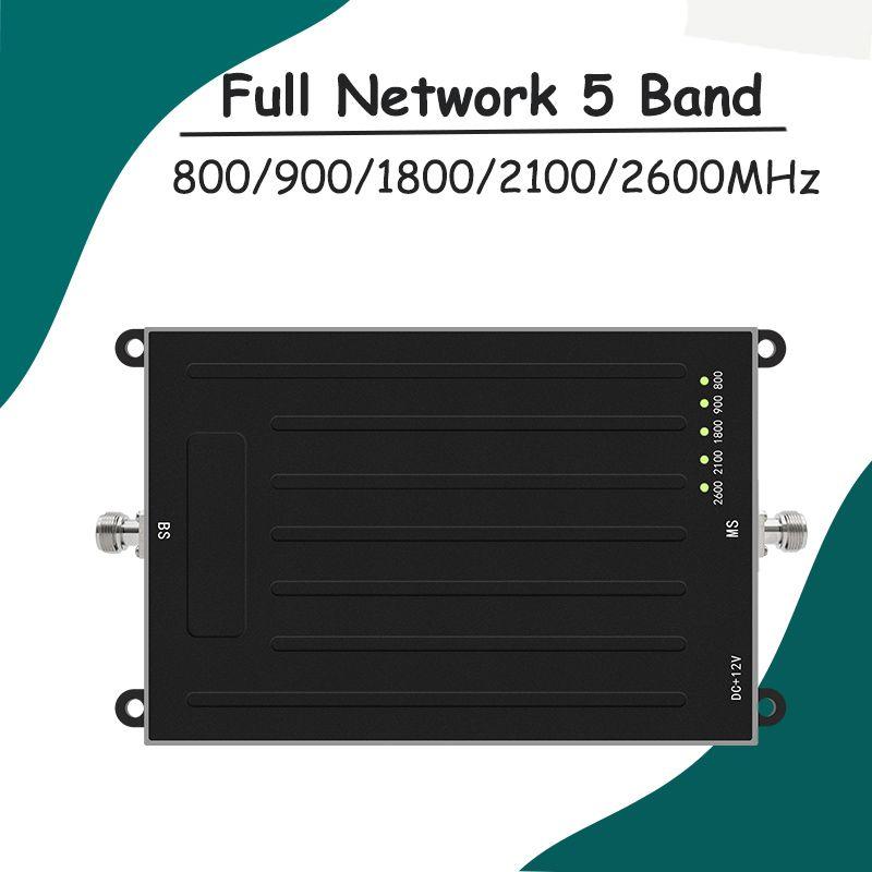 NEW!ALC 800/900/1800/2100/2600MHz 5 Band Signal Booster GSM 3G W-CDMA UMTS 4G LTE Cellphone Repeater B20/B8/B3/B1/B7 Amplifier