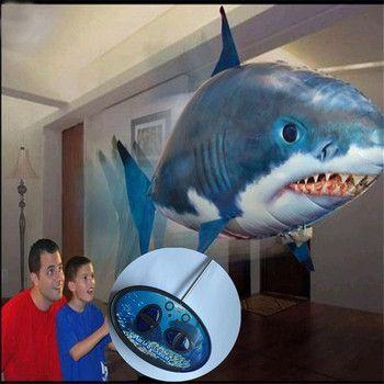 Оптовая продажа-воздуха летучей рыбы в форме Алюминий шар в высокого качества; Конфигурация дистанционный пульт