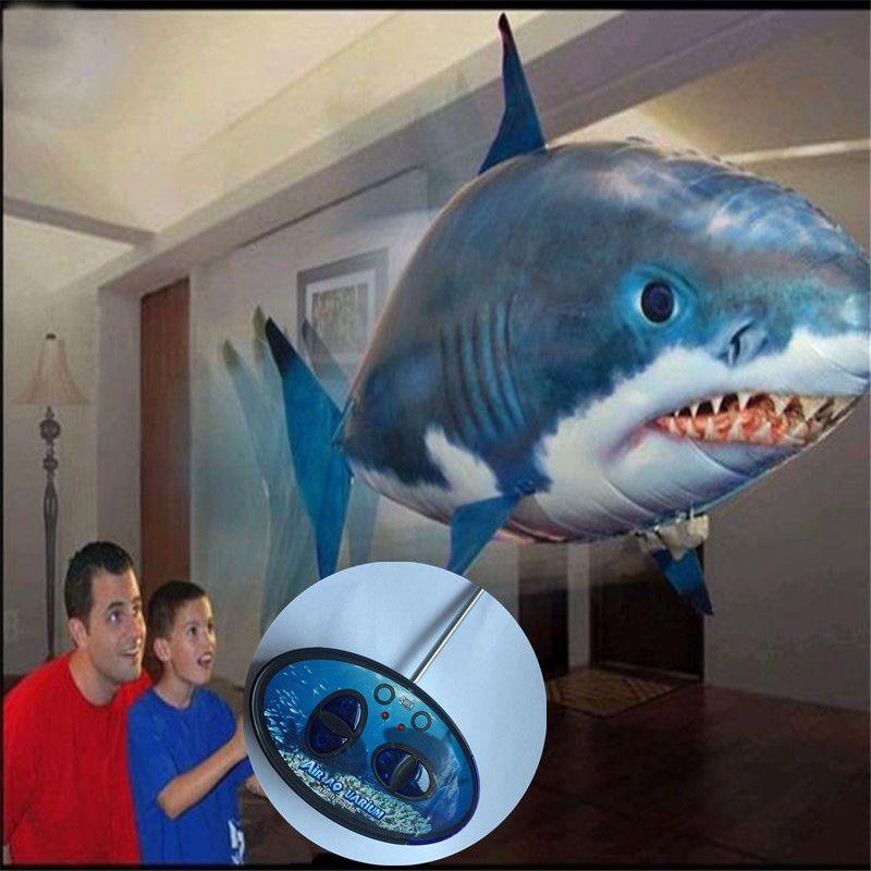 Vente en gros-Air flying fish en forme En Aluminium ballon en haute qualité; configuration télécommande