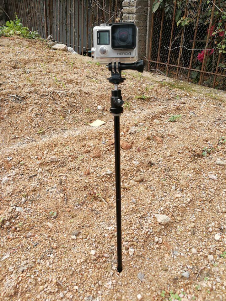 Chasse Piste Caméra Trépied et Jeu Monopode pour Gopro Hero Xiao Yi sjcam action caméra et smartphone