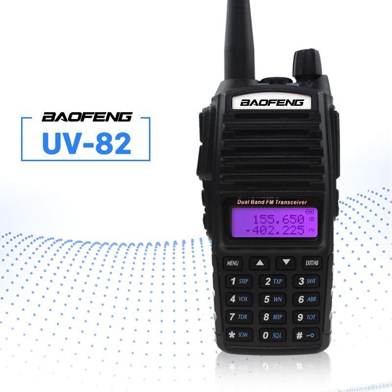 BAOFENG UV-82 talkie-walkie VHF UHF 5 W 8 W double PTT émetteur-récepteur portable Interphone récepteur FM CB Ham Amateur Radio bidirectionnelle