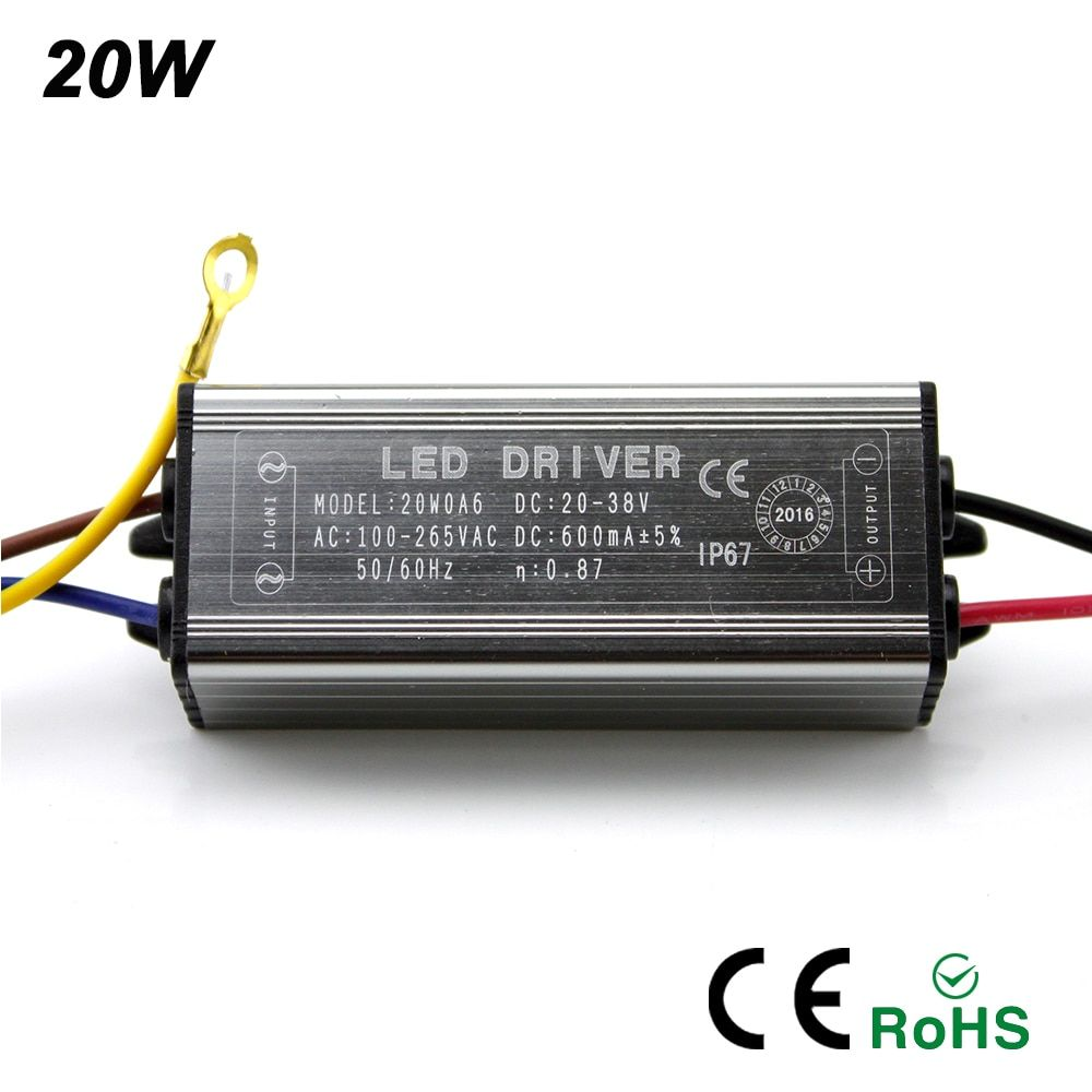 2017NEW LED Drive 10W 20W 30W 50W LED Driver Adapter Transformer AC100V-265V to DC20-38V Switch Power Supply IP67 For Floodlight