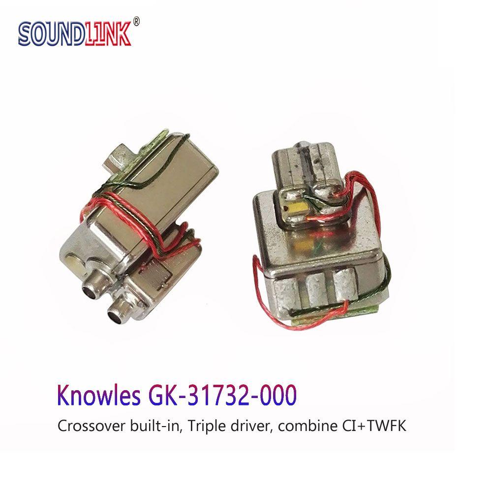 2 pièces GK-31732 beyoncé Armature équilibrée Triple pilote récepteur haut-parleur in-ear moniteurs bricolage