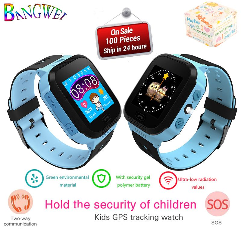 BANGWEI 2018 Kid Smart Watch Child Baby SOS Call Location Finder Tracker Anti-lost Smart Watch Remote Monitor Children watch+Box