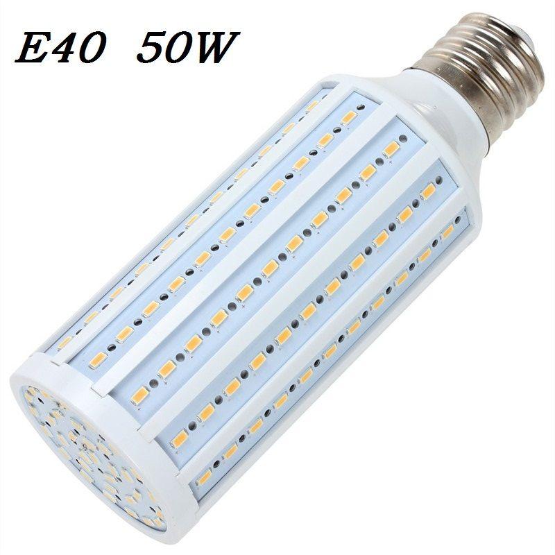 E40 LED ampoule de maïs lampe 50 W 165 LED Bombillas 5730 SMD pour l'éclairage public extérieur maison Jelwery vitrine magasin 110 V/220 V 1 pcs/lot