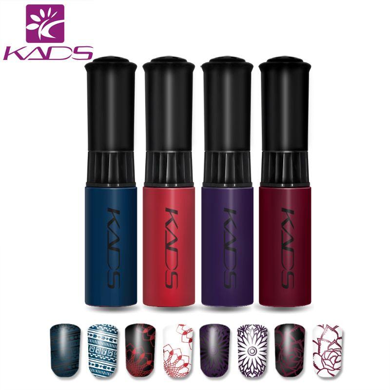 KADS Hot Sale 4pcs/set stamping nail lacquer nail art polish Long-lasting  More engaging 4 Seasons Beauty Nail Tools