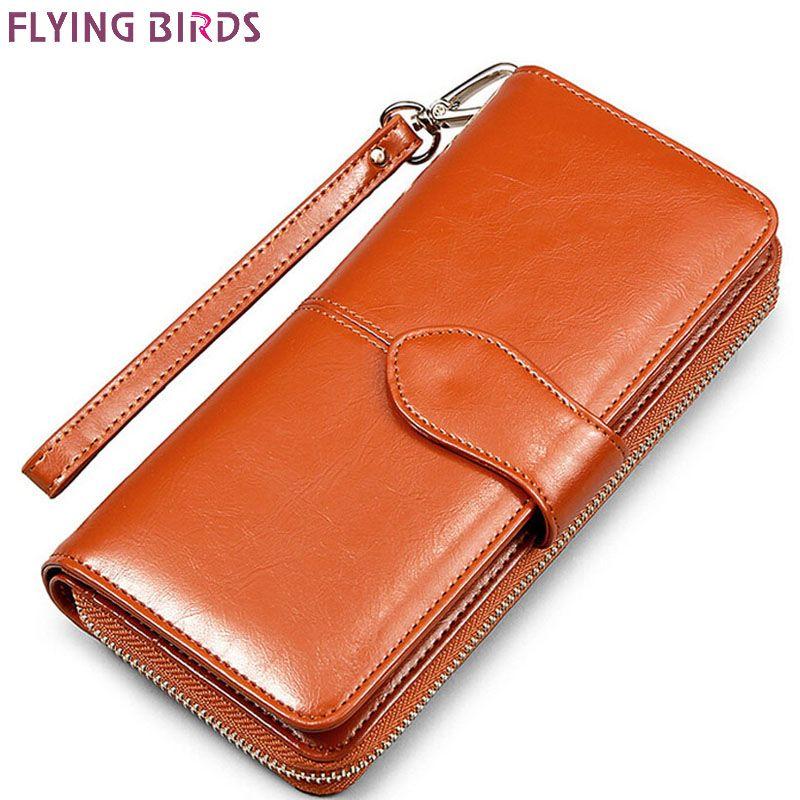FLYING BIRDS portefeuille pour femmes portefeuilles marques bourse dollar prix 2016 nouveau sacs à main designer titulaire de la carte coin sac femelle LS4917fb