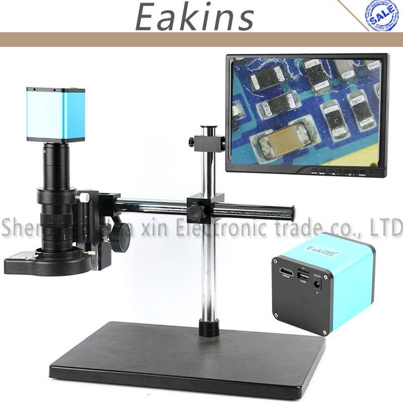 Einstellbare Boom Stehen 1080 P SONY SENSOR IXM290 Autofokus HDMI TF Industrie Video Mikroskop Kamera Arbeit Für PCB reparatur