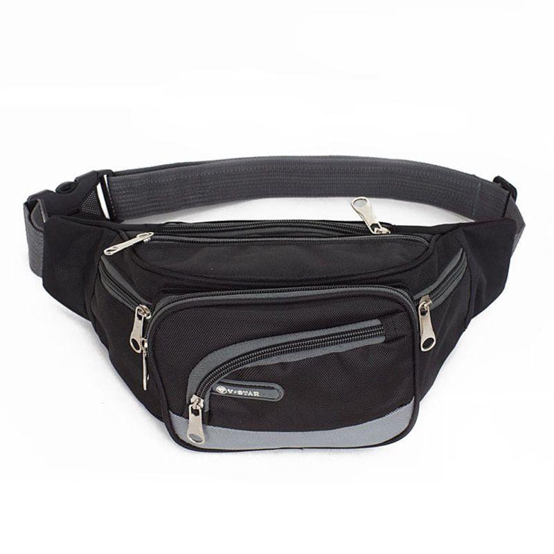 Талии нейлоновая сумка поясная сумка для Для мужчин Повседневное путешествия талии пакет Портативный сумка талии с карманами Для мужчин Ку...