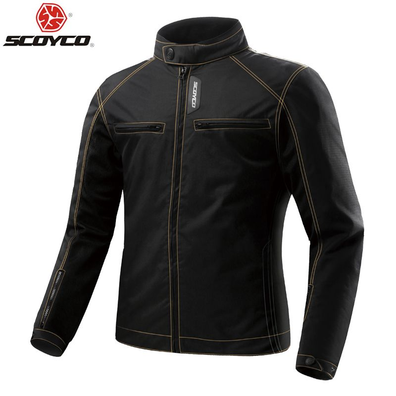 SCOYCO Motorcycle Jacket Summer Mesh Breathable Motorbike Racing Jacket with Protective Body Armor Motocross Riding Suit