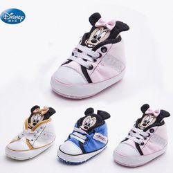 Disney bébé Filles Princesse Chaussures mignon de Bande Dessinée Minnie rose enfants enfants Mickey Sneakers nouveau-né doux Chaussures de Sport
