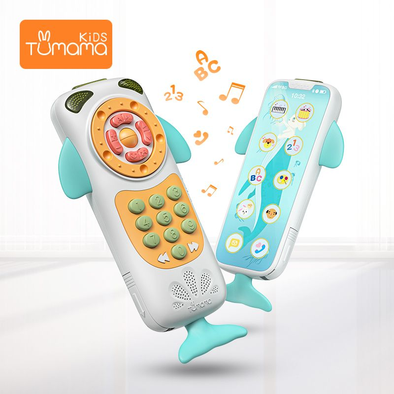 New Tumama Baby Toys Music Smart Mobile Phone Remote Phone Early Educational Toys Electric Numbers Learning Toy for Baby Gift