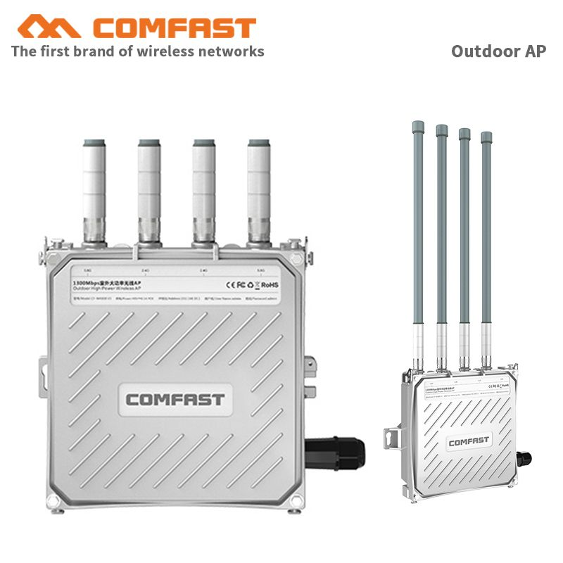 Wasserdicht 1200Mbps 48V PoE Outdoor AP CPE 802.11ac Dual Band 2,4G & 5,8G Wireless Access Point wiFi Signal Booster wifi router