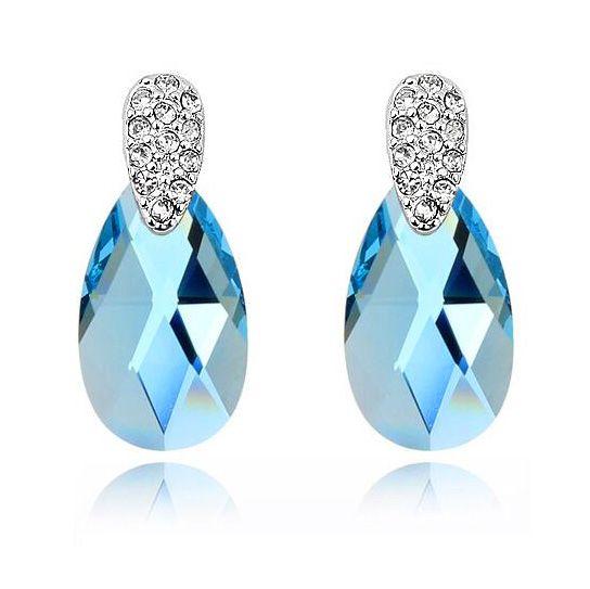 Cristaux de mode de Swarovski boucles d'oreilles pour femmes de haute qualité Brincos Bijuterias fête mariage marque de luxe bijoux