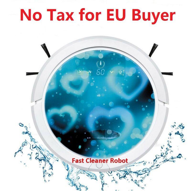 Europa Lager Billiger Roboter Staubsauger mit Wasser Tank (Sweep, Vakuum, Mop, Sterilisieren) Zeitplan, selfCharge, Fernbedienung, UV