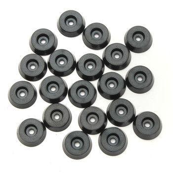 20 штук резиновая фурнитура для столов и стульев ноги ногу колодки плитка защита для пола 18x15x5 мм