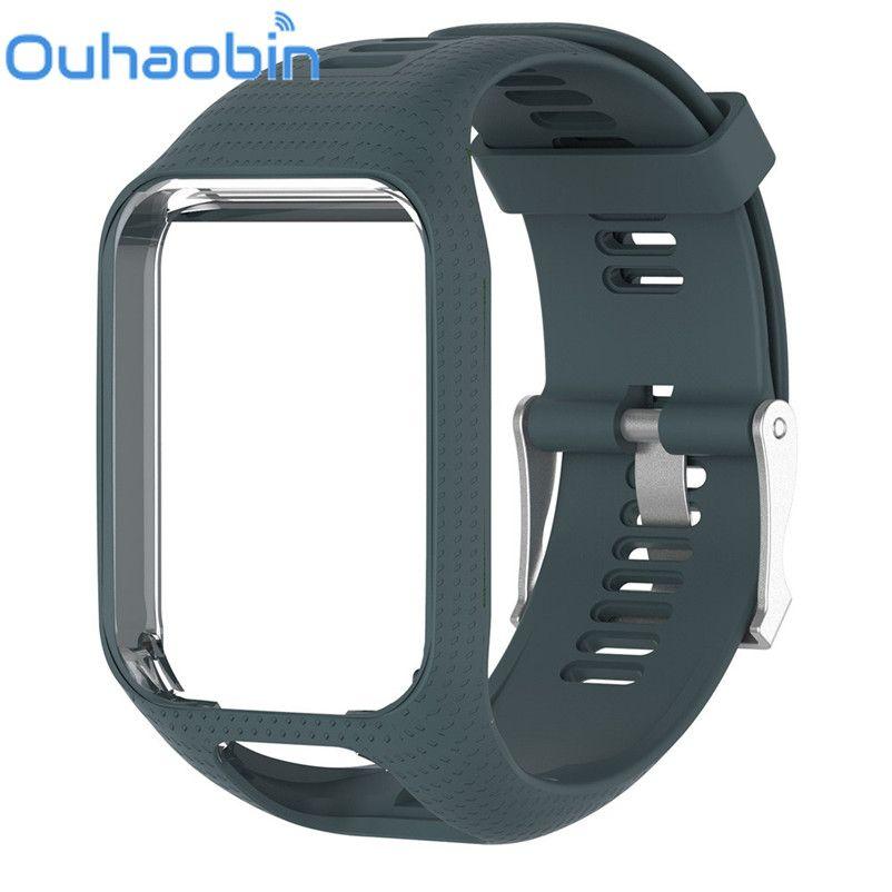 Ouhaobin TPE Wrist Band Watch Strap For TomTom Runner 2/3 Adventurer/Golfer 2 Spark/Spark 3 Watchbands Strap GPS Watch 11 Colors