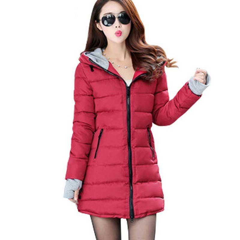 2017 Women Winter and Autumn Wear High Quality Women down cotton Parkas Winter Jackets Outwear Women Long Coats BL1270