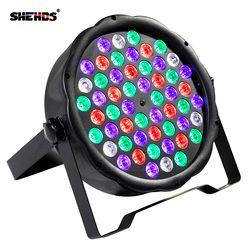 Светодиодный номинальной света RGBW 54x3 W Disco Wash световое оборудование 8 Каналы DMX 512 светодиодный Uplights Освещение сцены световой эффект Быстрая ...
